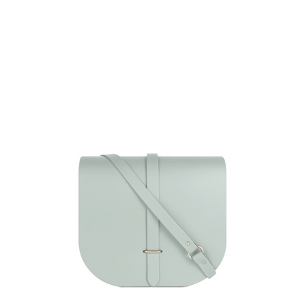 Large Saddle Bag in Leather - Seafoam Matte