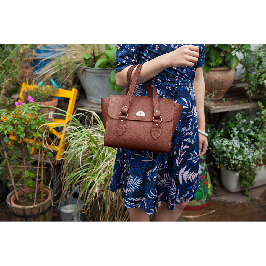 The Small Emily Tote - Bay Celtic Grain