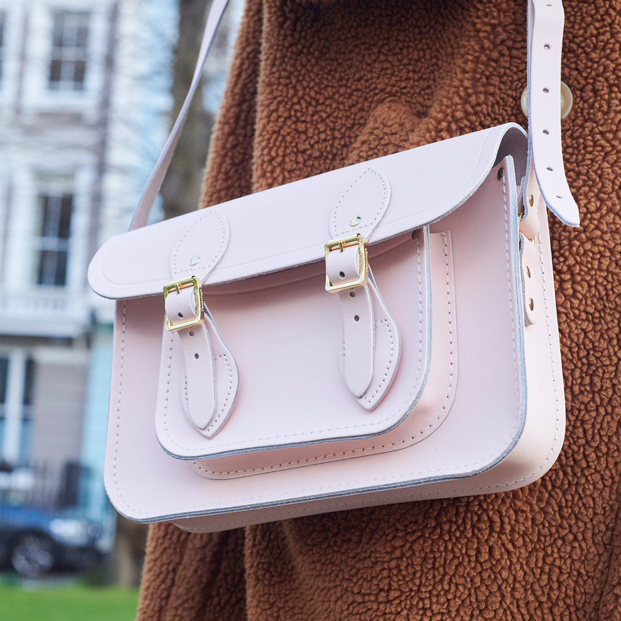 Womens-11 Inch Magnetic Satchel in Leather - Cloud Pink Matte | Cambridge Satchel