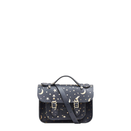 Starstruck on Navy Mini Cambridge Satchel Leather Cross Body Bag