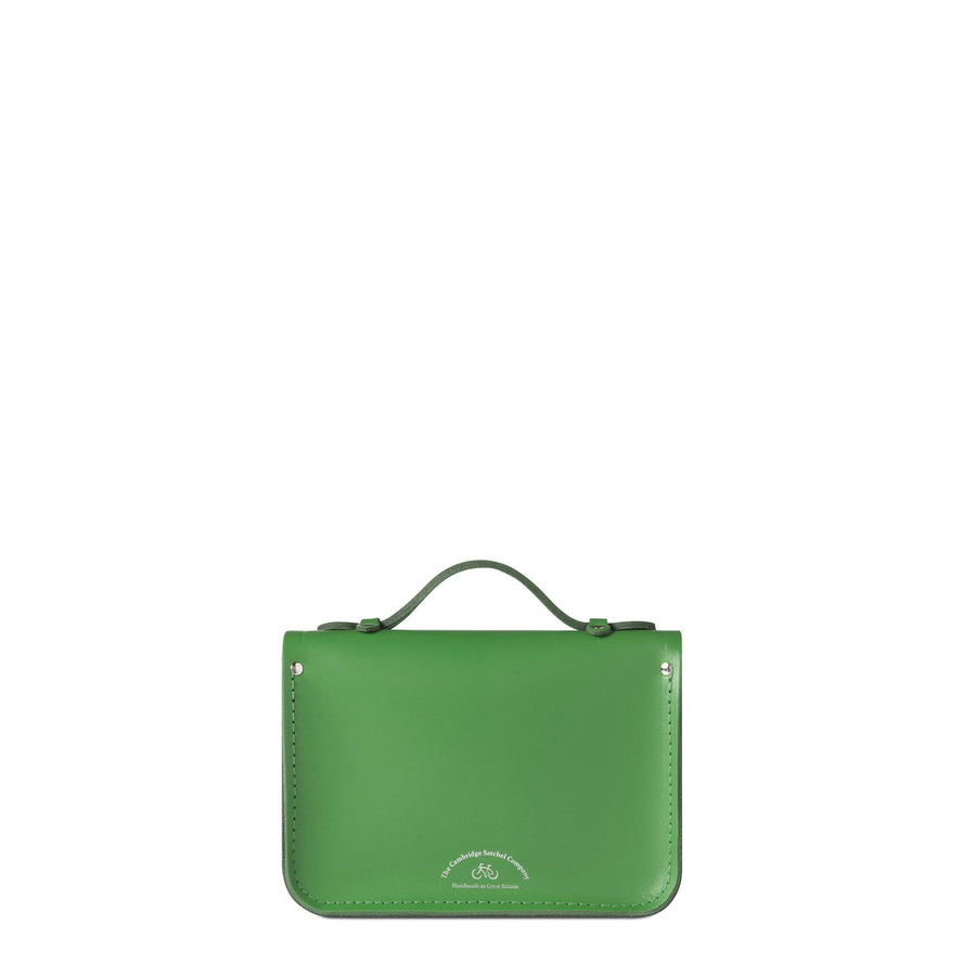 Mini Satchel in Leather - Green