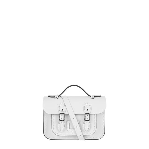 Magnetic Mini Satchel in Leather - Off White - Cambridge Satchel