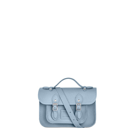 French Grey Mini Cambridge Satchel Leather Cross Body Bag