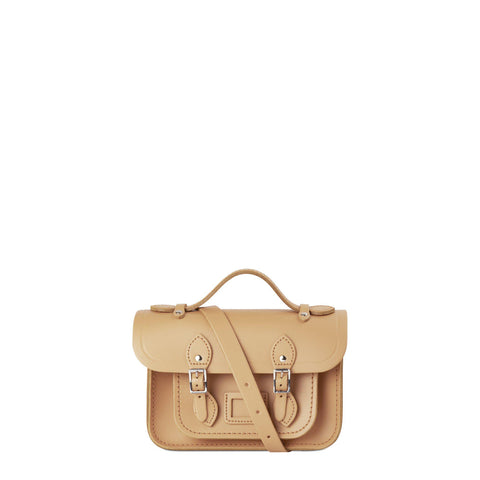 Mini Satchel in Leather - Sand