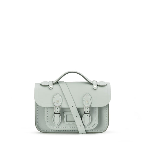 Mini Satchel in Leather - Matte Eggshell