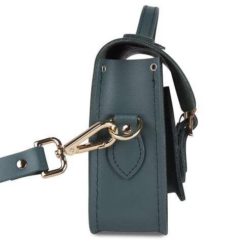 Magnetic Mini Satchel in Leather - Fir