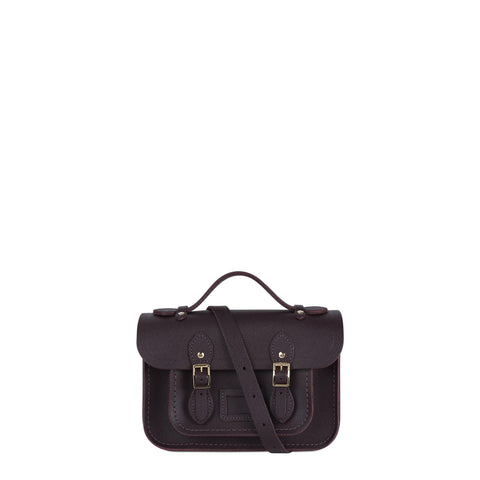 Magnetic Mini Satchel in Leather - Juniper Saffiano