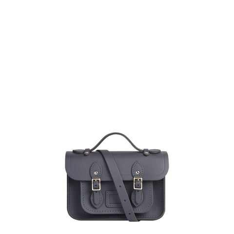 Magnetic Mini Satchel in Leather - Dapple Matte