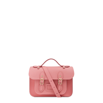 Magnetic Mini Satchel in Leather - Hot Rose Matte | Cambridge Satchel