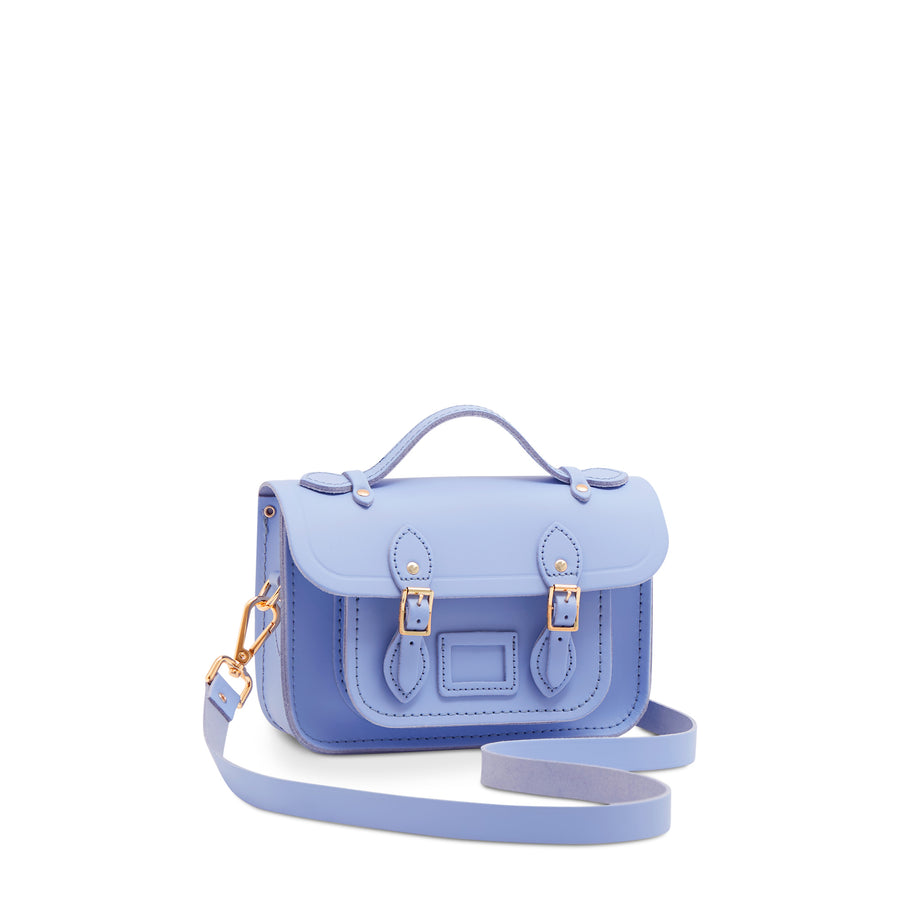 Blue Mini Cambridge Satchel Leather Cross Body Bag