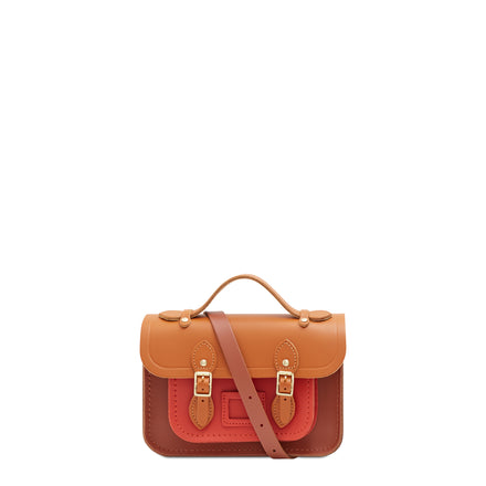 Magnetic Mini Satchel in Leather - Spice, Caramello & Nutmeg