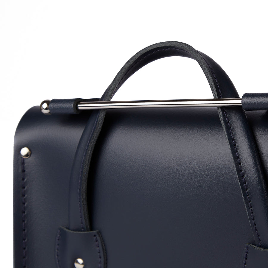 Melody Bag In Leather - Navy | Cambridge Satchel