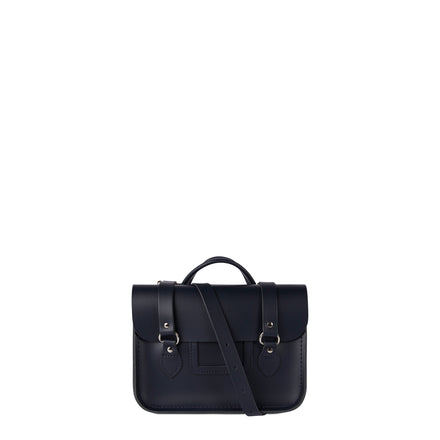 Navy Cambridge Satchel Women's Leather Cross Body Bag