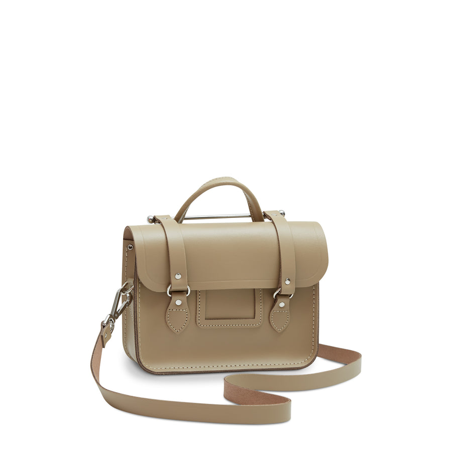 Melody Bag In Leather - Sandstone | Women's Handbag & Cross Body Bag