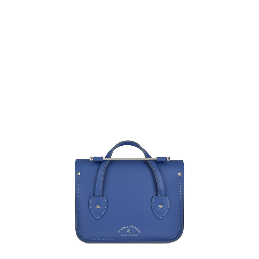 Melody Bag In Leather - Italian Blue Matte | Cambridge Satchel