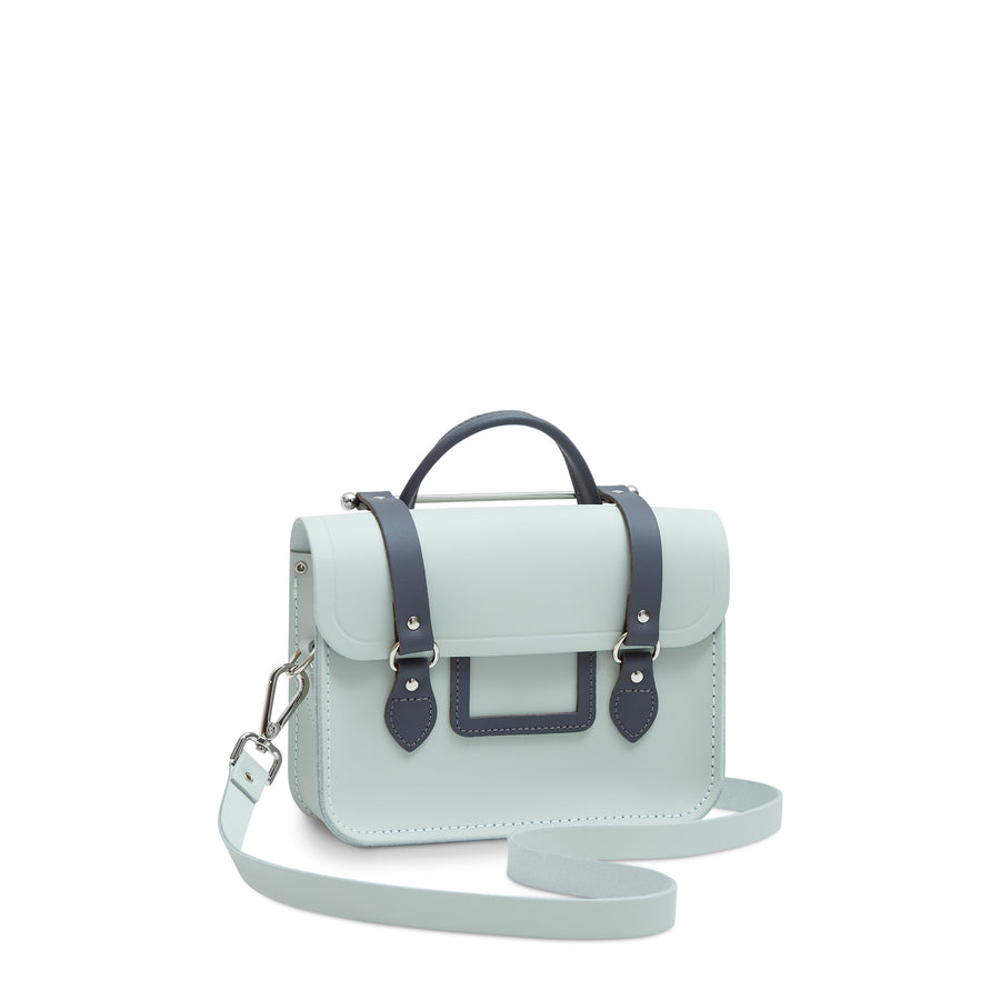 Melody Bag In Leather - Sea Foam Matte & Storm Matte | Women's Handbag & Cross Body Bag