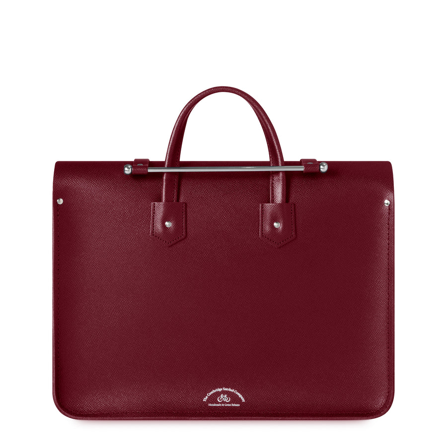 Music Case in Leather - Rhubarb Red Saffiano
