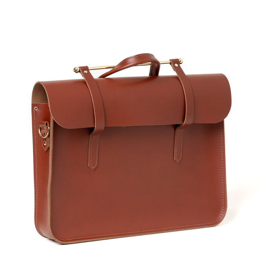 Music Case in Leather - Brandy