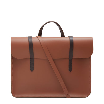 Brown Cambridge Satchel Leather Music Case Bag