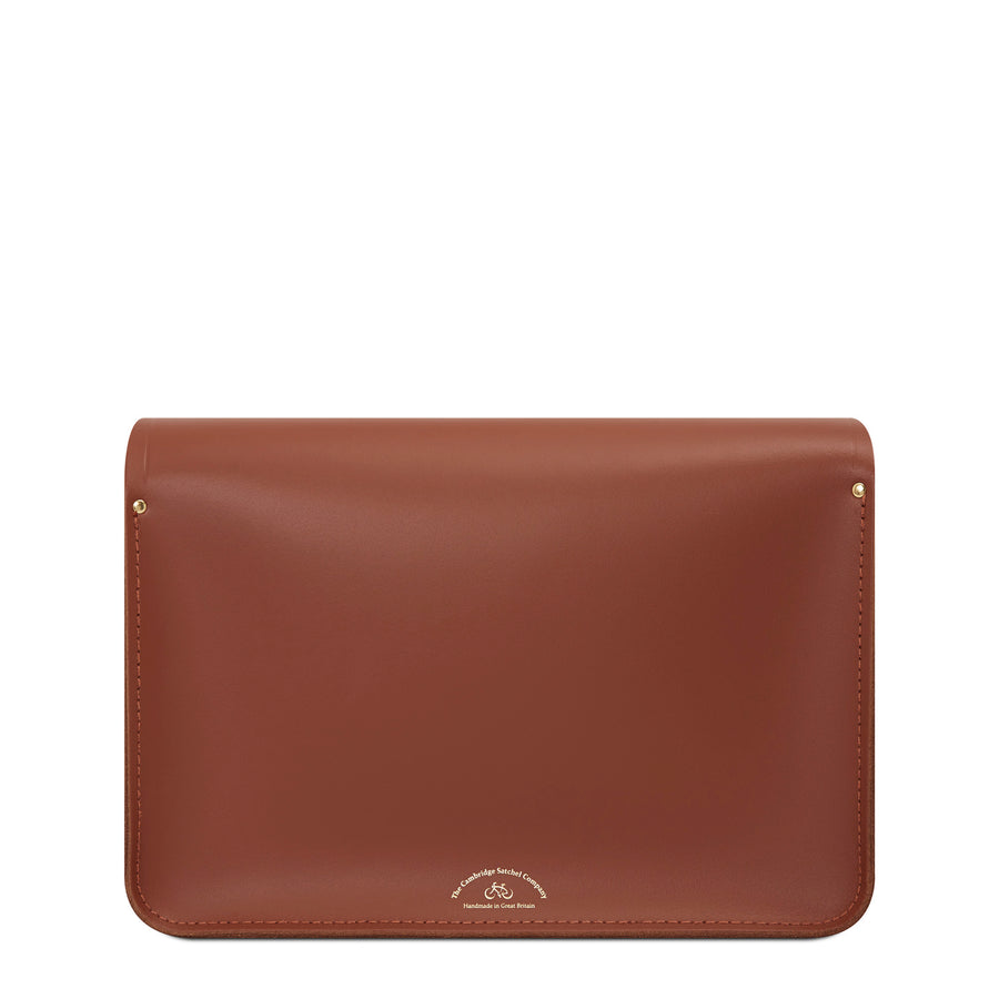 Bridge Closure Bag in Leather - Bay & Dark Brown | Cambridge Satchel