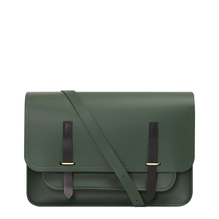 Bridge Closure Bag in Leather - Racing Green & Black Bridle | Cambridge Satchel