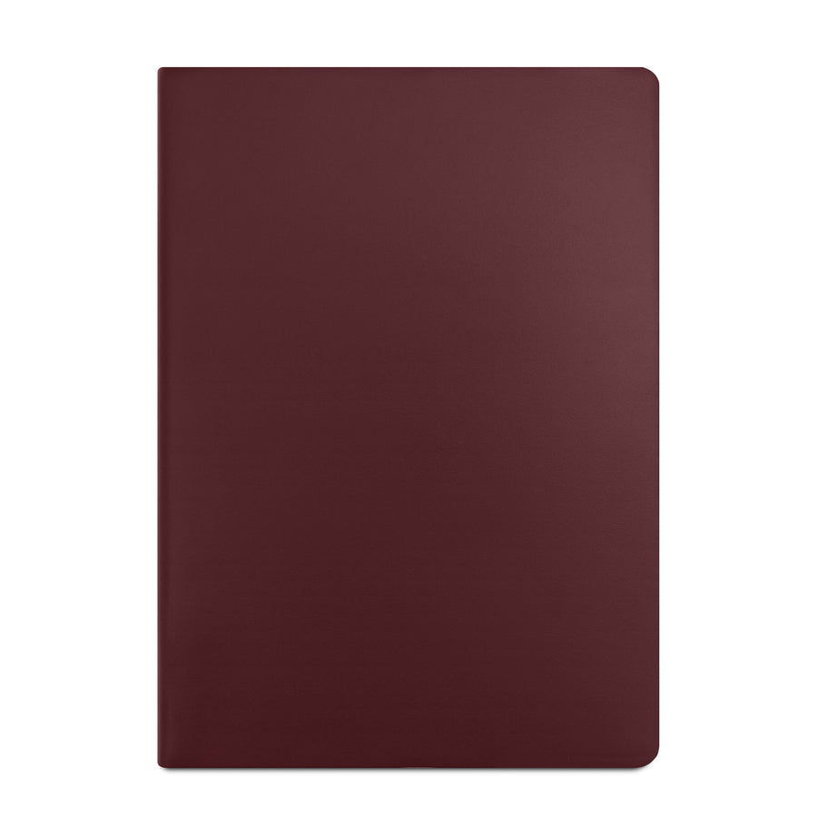 A4 School and Work Notebook in Leather - Oxblood | Cambridge Satchel
