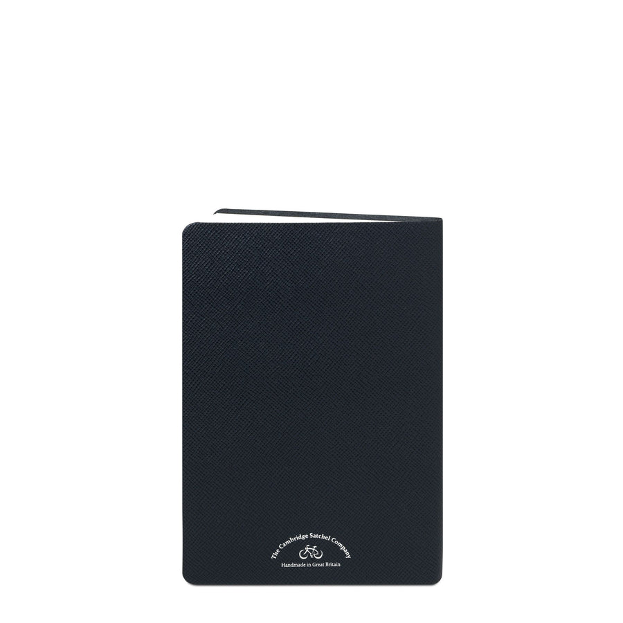 A5 University of Cambridge Notebook in Saffiano Leather - Navy Saffiano - Cambridge Satchel