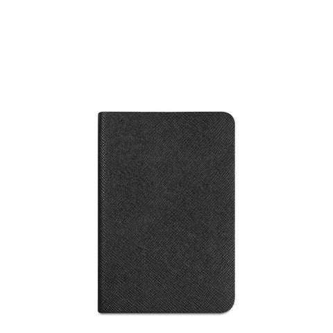 A5 Notebook in Leather - Black Saffiano