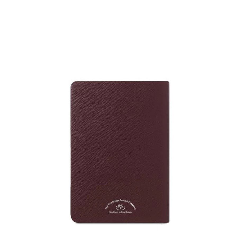 A5 Notebook in Saffiano Leather - Oxblood