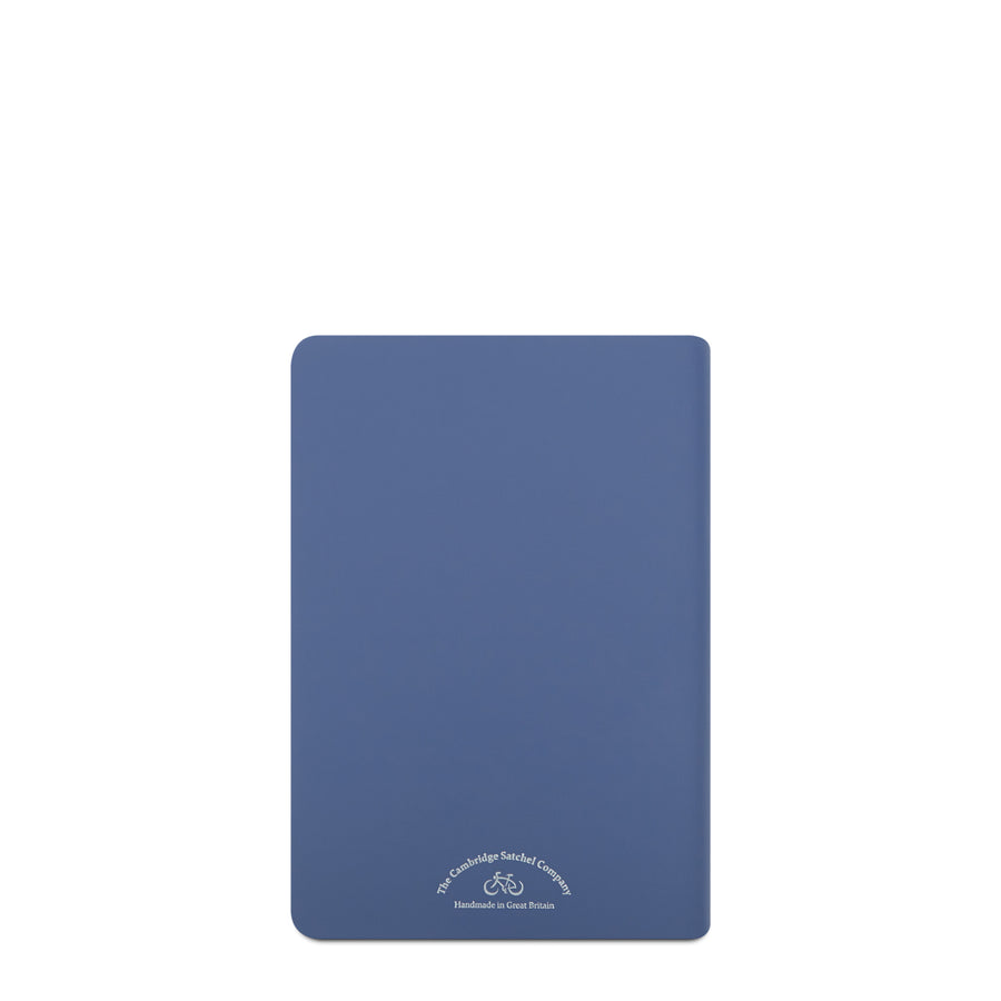 A5 Notebook in Leather - Italian Blue Matte | Cambridge Satchel