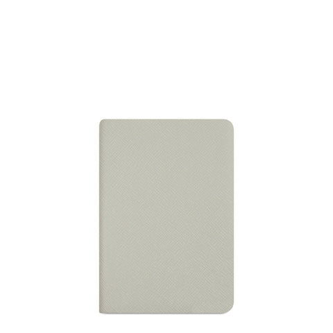 A6 Notebook in Leather - Eggshell Matte Saffiano