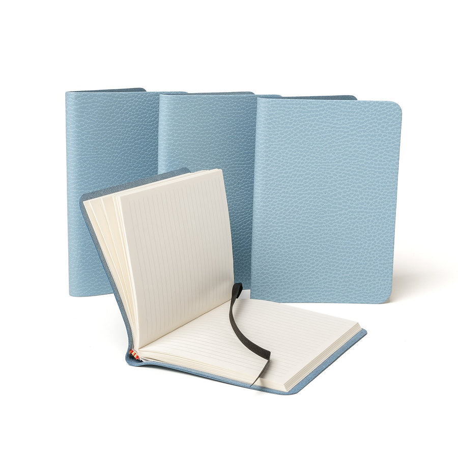 A6 Notebook in Leather - Delphinium Matte Celtic Grain