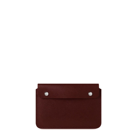 The Mini iPad Case - Oxblood Saffiano