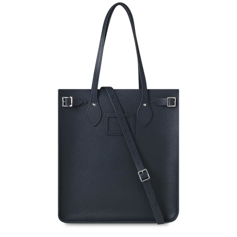 North South Tote in Saffiano Leather - Navy Saffiano