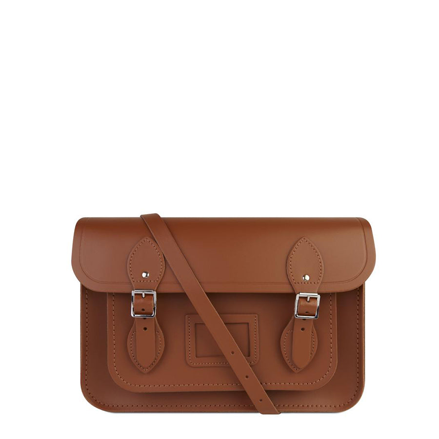 13 Inch Magnetic Satchel in Leather - Russet
