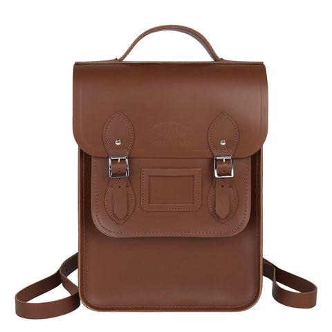 University of Cambridge Portrait Backpack in Leather - Vintage - Cambridge Satchel