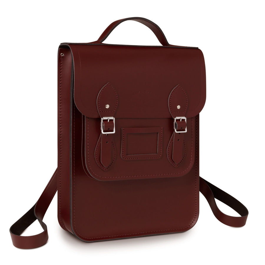University of Cambridge Portrait Backpack in Leather - Oxblood - Cambridge Satchel