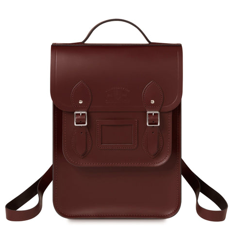 University of Cambridge Portrait Backpack in Leather - Oxblood