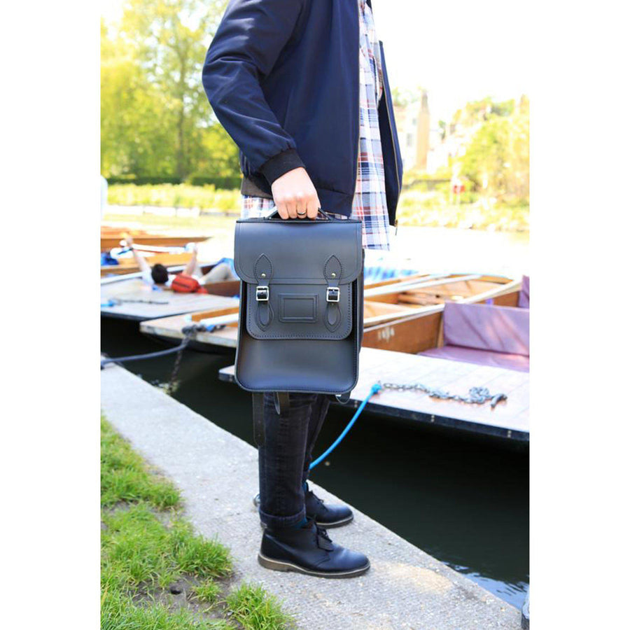 Mens - Portrait Backpack in Leather - Black - Cambridge Satchel