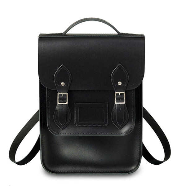 Portrait Backpack In Leather   Black by Cambridge Satchel
