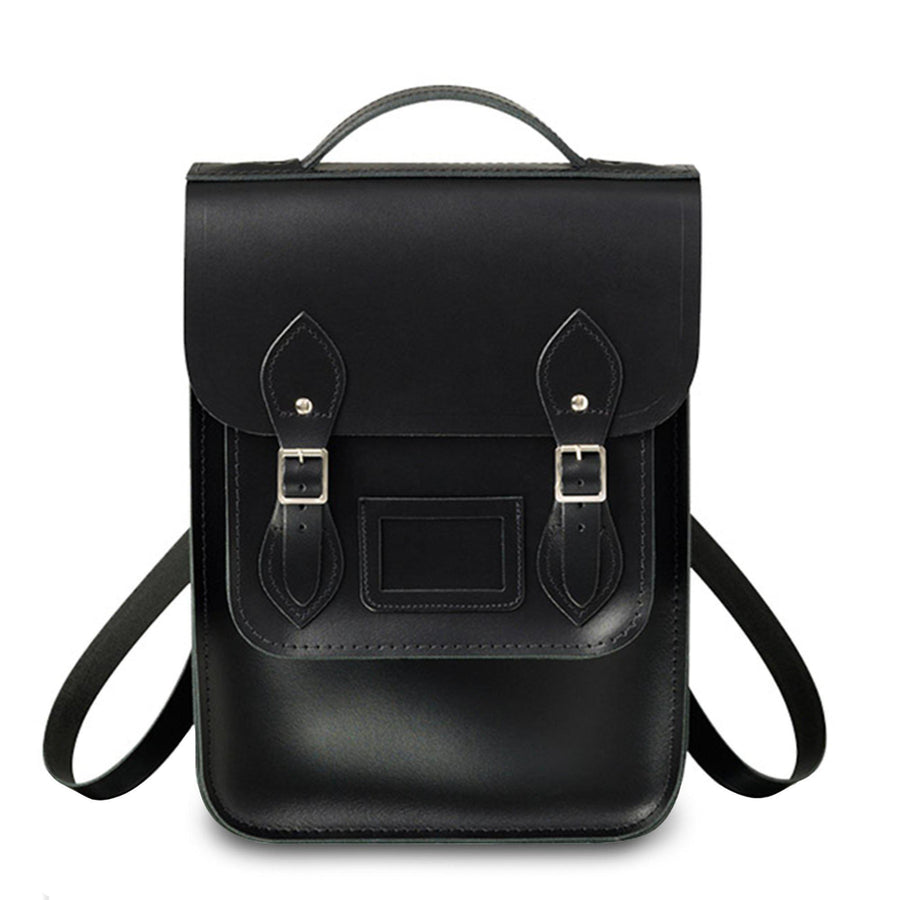 Portrait Backpack in Leather - Black - Cambridge Satchel