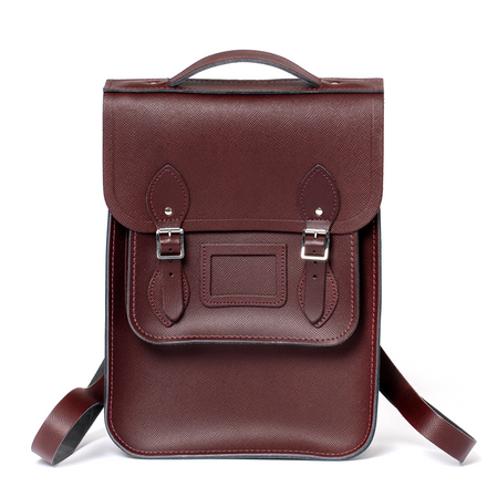 Oxblood Cambridge Satchel Portrait Leather Backpack
