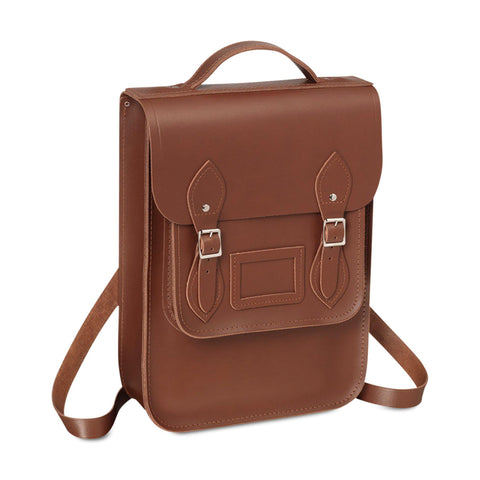 Portrait Backpack in Leather - Saddle