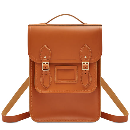Portrait Backpack in Leather - Caramello