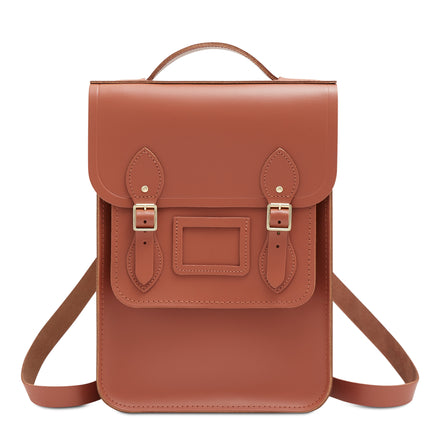 Brown Cambridge Satchel Small Portrait Leather Backpack
