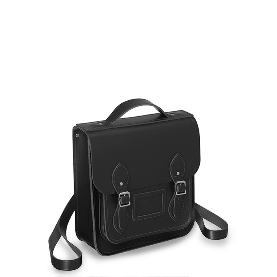 Small Portrait Backpack in Leather - Black - Cambridge Satchel