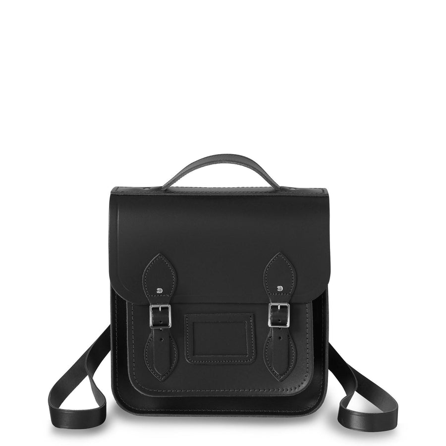 38d4d88b7 Personalise your bag. Small Portrait Backpack in Leather - Black - Cambridge  Satchel