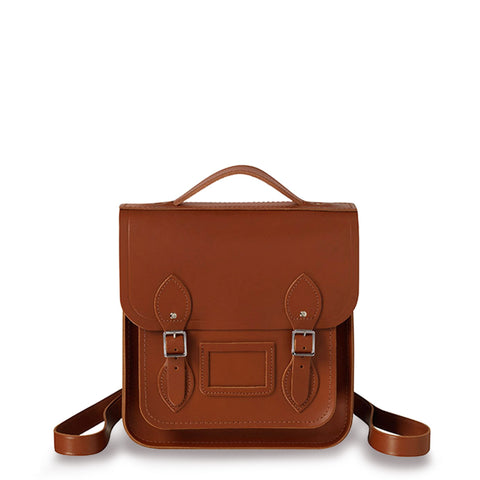 Small Portrait Backpack in Leather - Russet