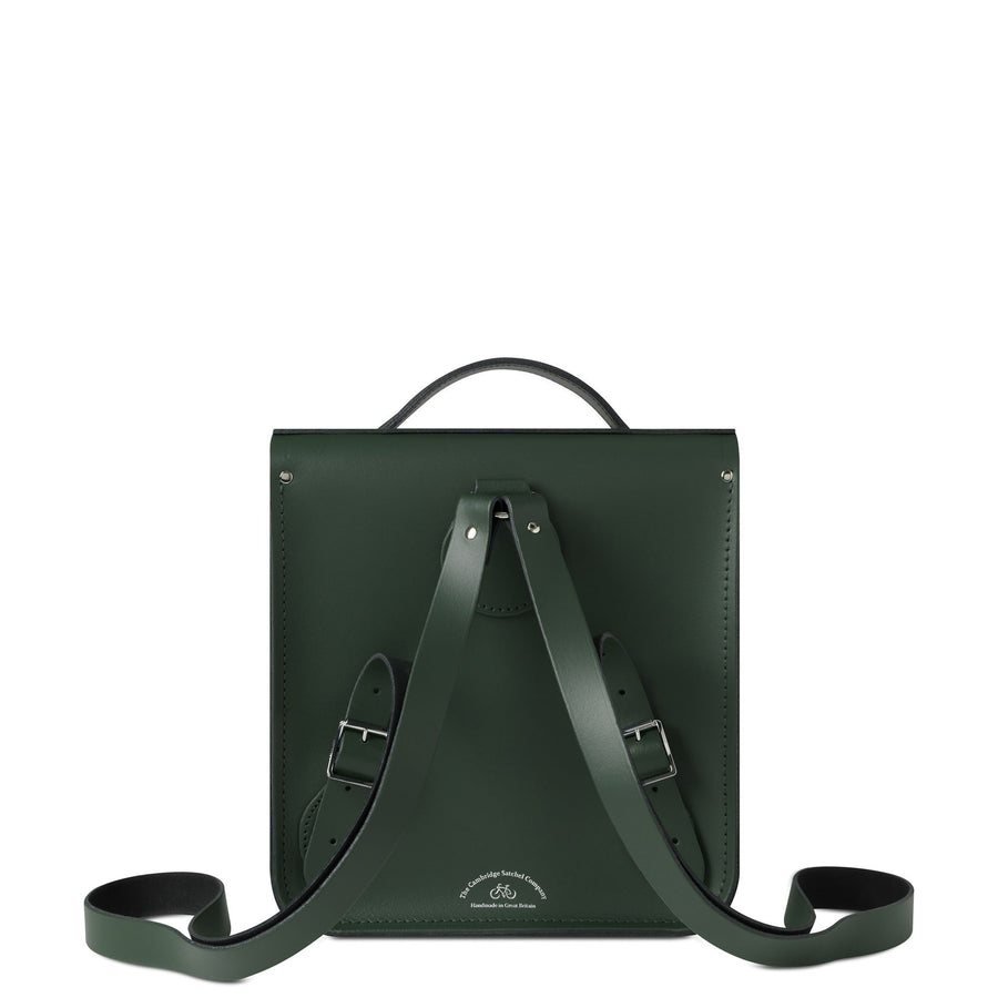 Small Portrait Backpack in Leather - Racing Green - Cambridge Satchel