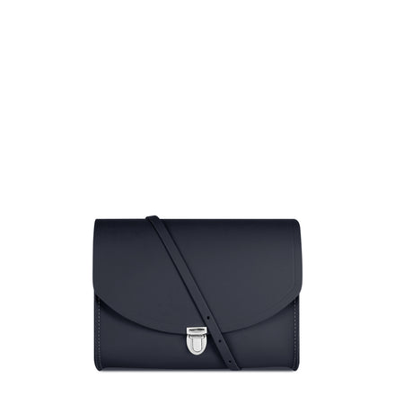 Large Push Lock in Leather - Navy